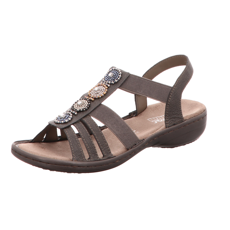 Rieker Damen Sandalette Basalt Grau
