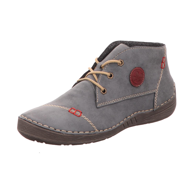 Rieker Damen  Stiefel Stiefelette Boots elegant blau