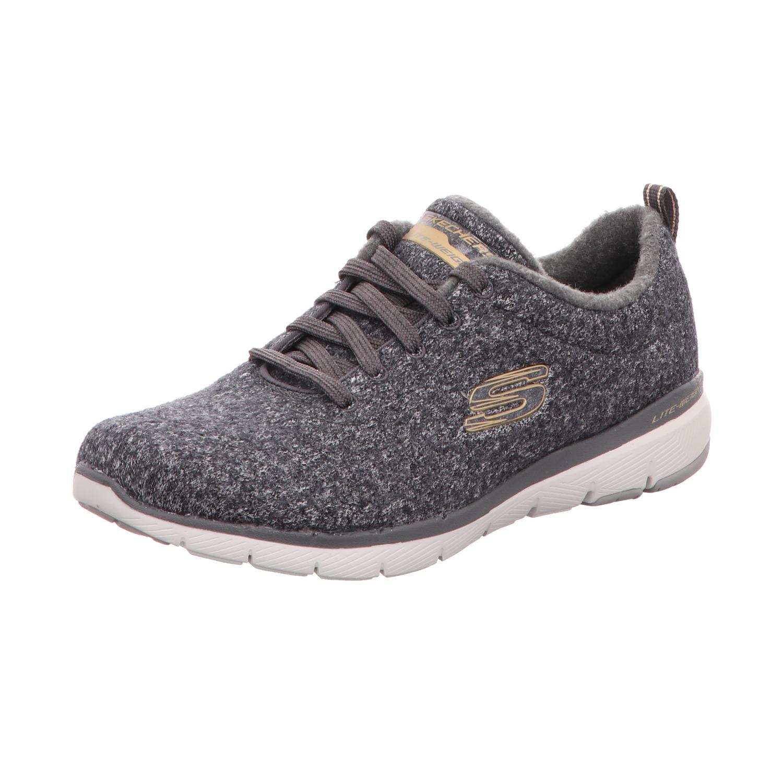 Skechers Damen Sneaker Flex Appeal 3.0 Grau