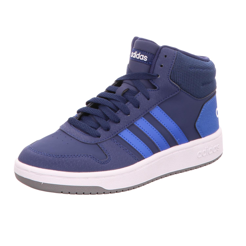 Adidas Jungen Schnürstiefelette Hoops Mid 2.0 K Blau