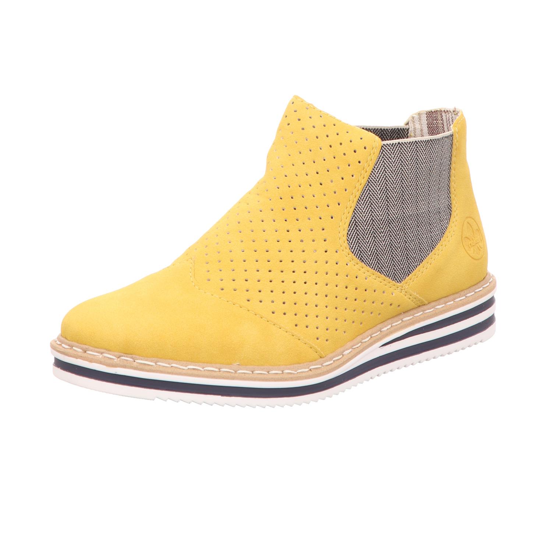 Rieker Damen Stiefelette Gelb