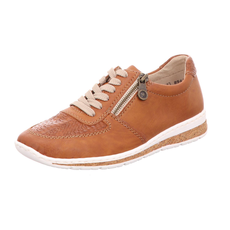 rieker Damen Sneaker Braun Schuhe, Größe:38