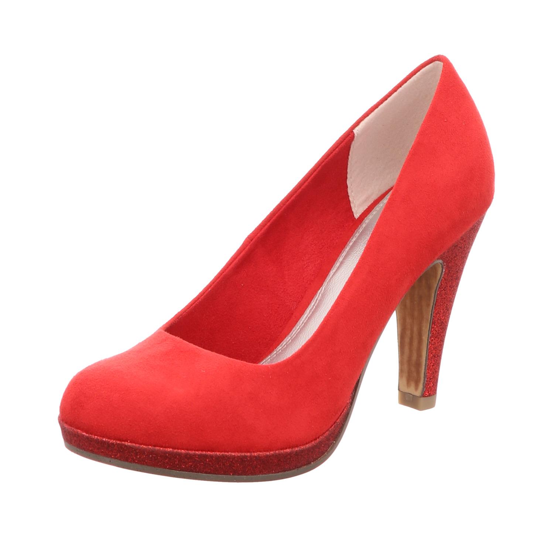 Marco Tozzi 22404 Klassische elegante Damen Pumps Rot
