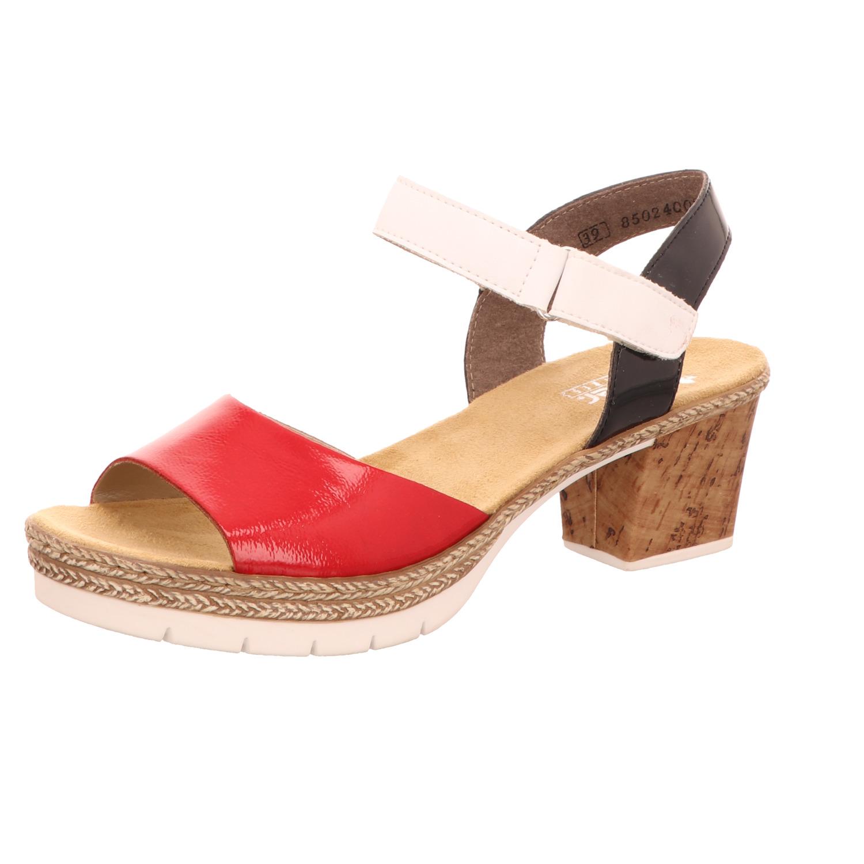Rieker Damen Sandalette Rot Weiß | SCHUH OKAY qEpbj