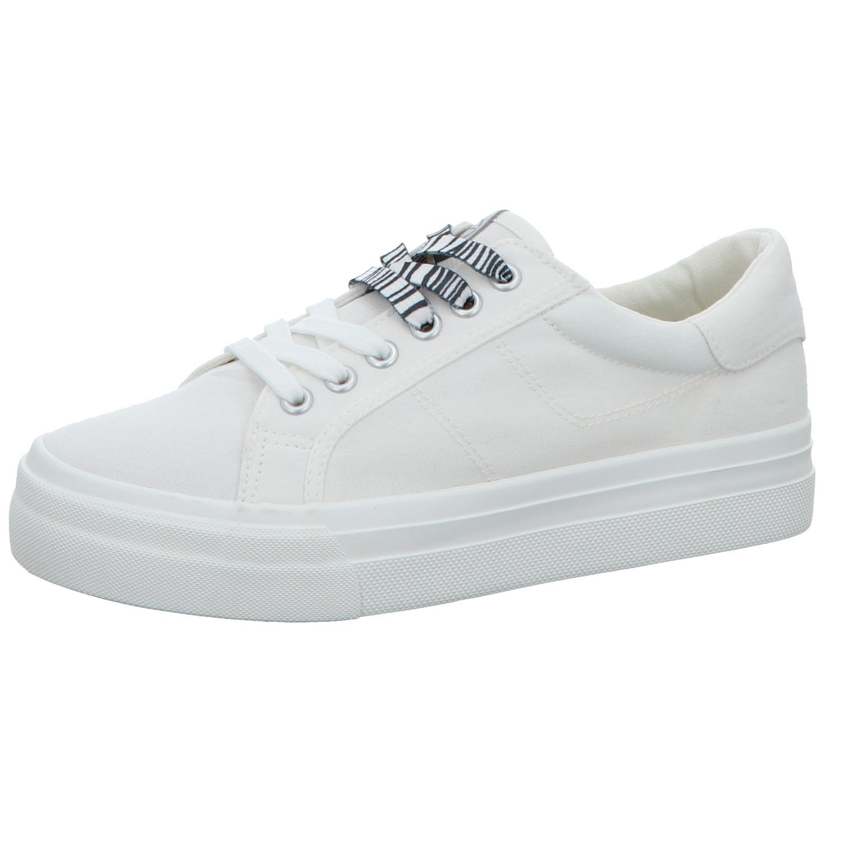 TAMARIS Tamaris Damen Leinen Sneaker Weiß
