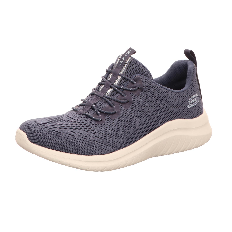Skechers Damen Sneaker Slipper Ultra Flex 2.0 Lite Groove Air Cooled Memory Foam Blau
