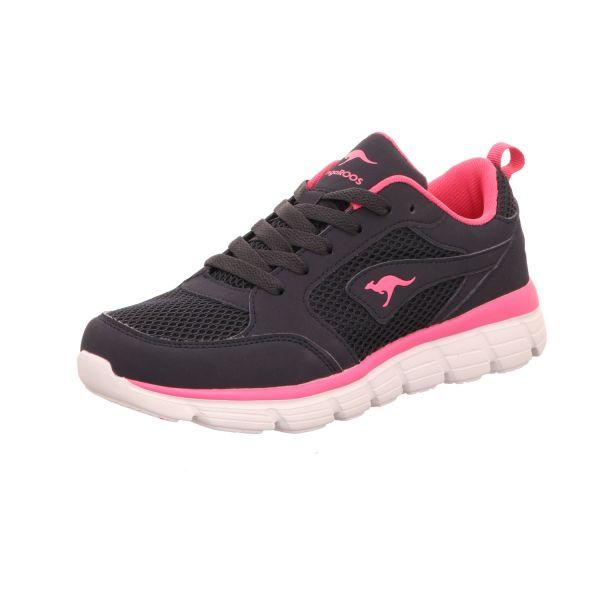 KangaROOS Damen-Sneaker Blau-Daisy-Pink
