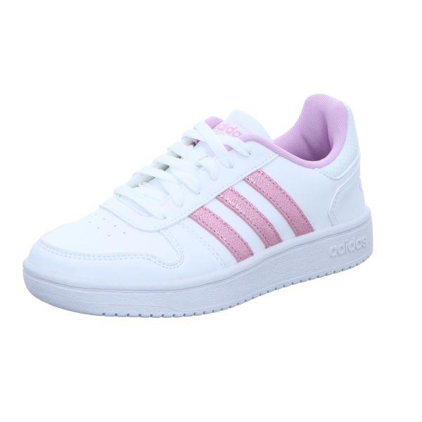 Adidas Mädchen-Sneaker Hoops 2.0 K Weiß-Rosa
