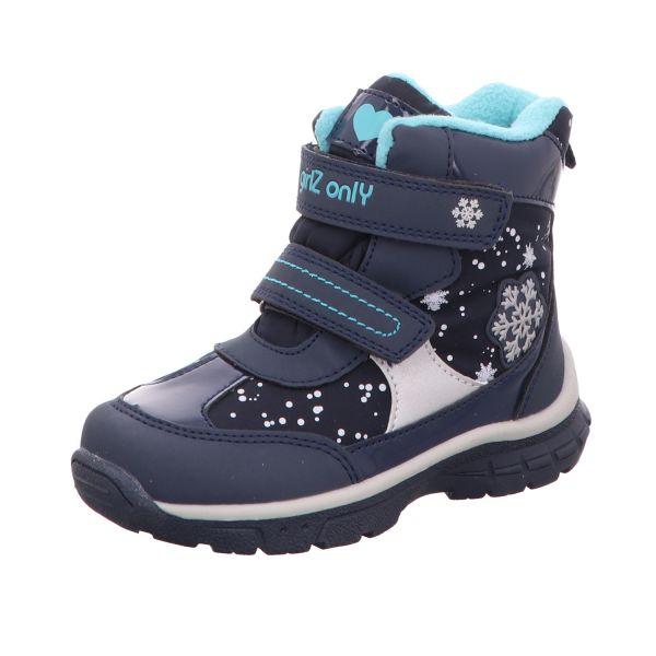 girlZ onlY Mädchen-Tex-Allwetterstiefel gefüttert Schnee Funktionsmembran Blau