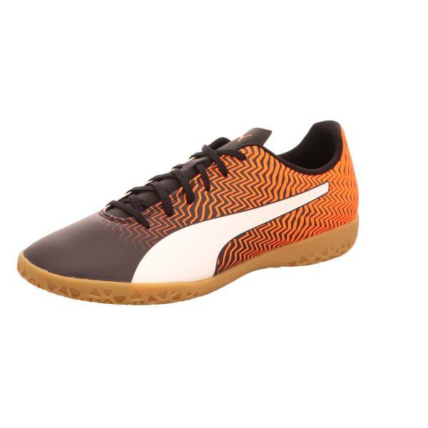 Rapido Puma Herren-Indoorschuh-Sportschuh II IT Orange-Schwarz-Weiß