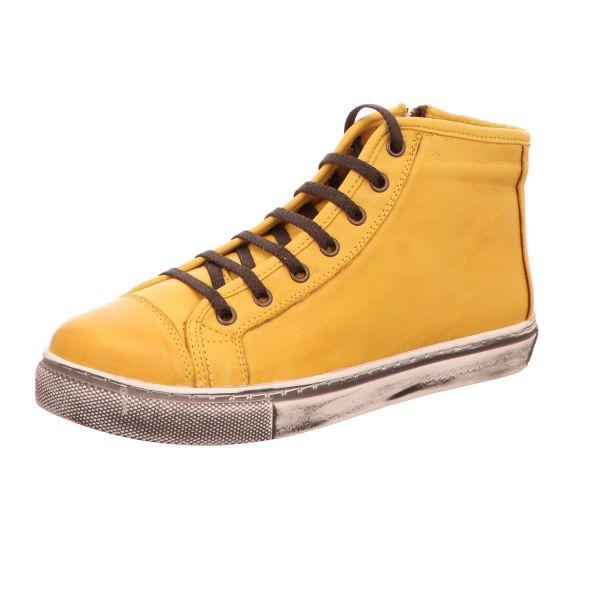 BOXX Damen-Schnürstiefelette Gelb