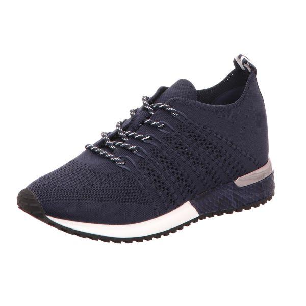 La Strada Damen-Sneaker Laced up knitted sneaker Blau