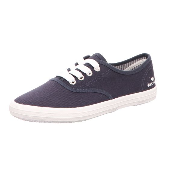 Tom Tailor Damen-Leinen-Sneaker Blau