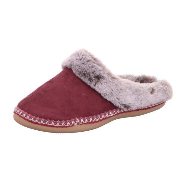 Home Comfort Damen-Pantoffel mit Warmfutter Pflaumen-Rot