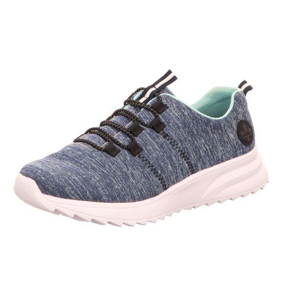 Rieker Damen-Sneaker-Slipper Blau