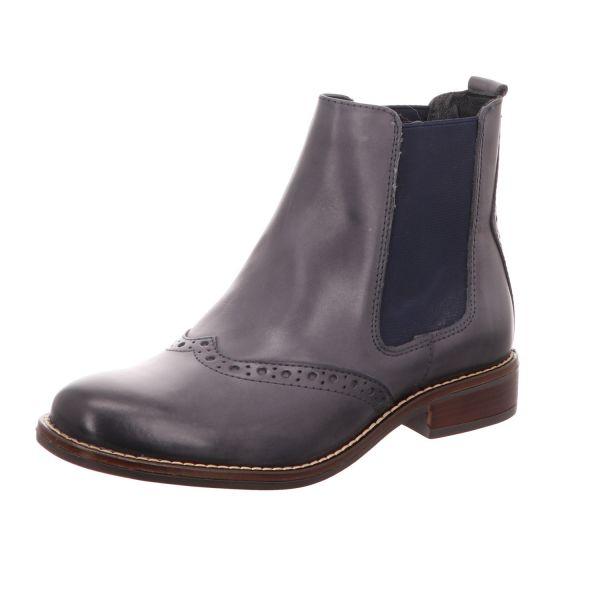 BOXX Damen-Stiefelette Chelsea Boot Blau