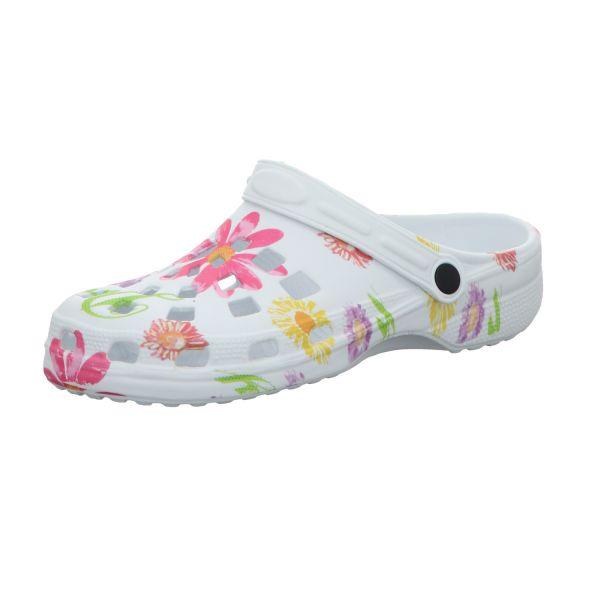 Sneakers Damen-Badeschuh Weiß mit Blumen