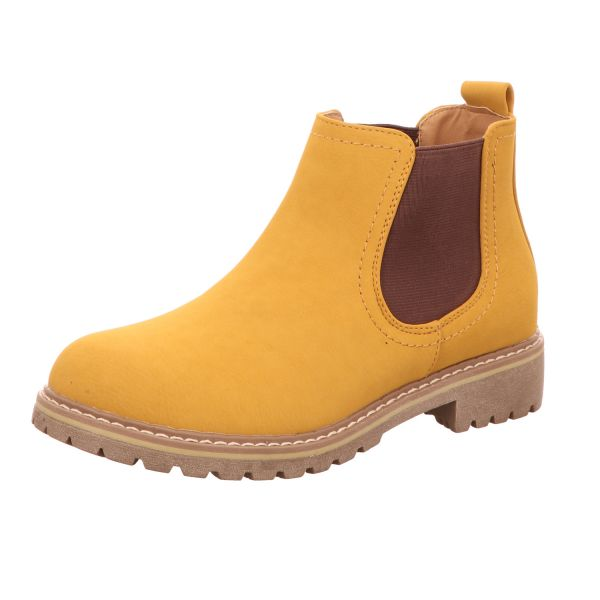 Alyssa Damen-Stiefelette Chelsea Boot Gelb