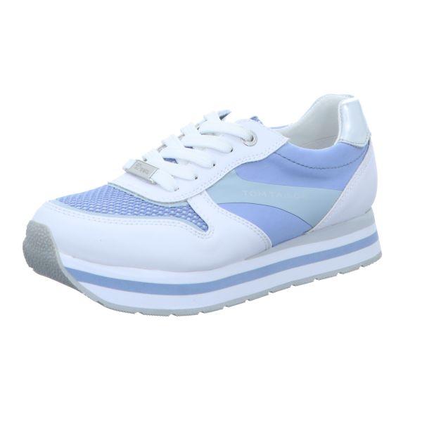 Tom Tailor Damen-Sneaker Weiß-Blau