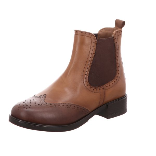 BOXX Damen-Stiefelette Chelsea Boot Braun