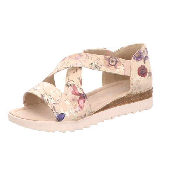 Alyssa Damen-Sandalette Beige-Multi Blumenmuster