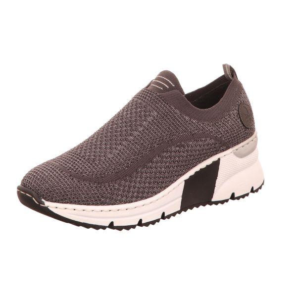 Rieker Damen-Sneaker-Slipper Grau