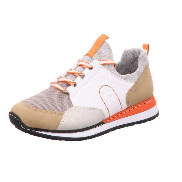 Rieker Damen-Sneaker-Slipper Beige-Multi