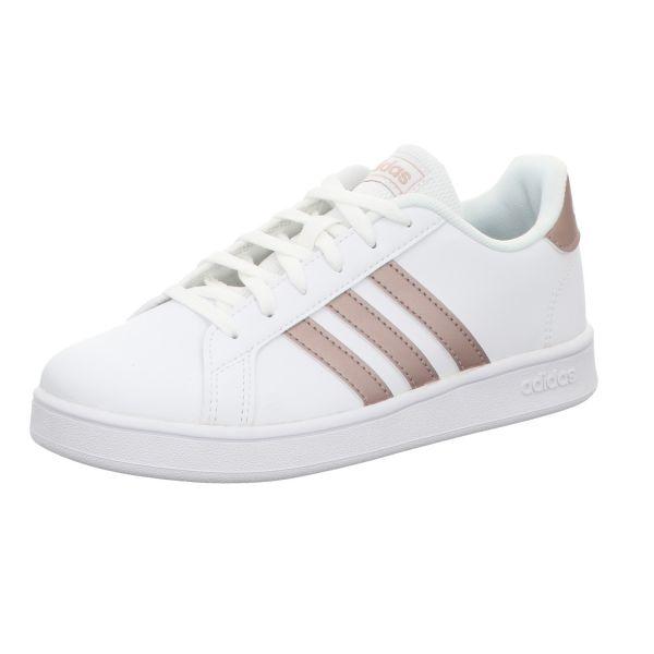 Adidas Mädchen-Sneaker mit Sportboden Grand Court K Weiß