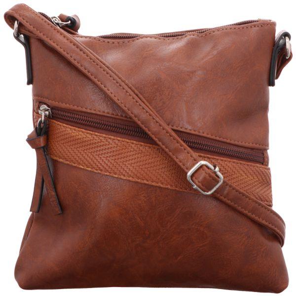Jewels of Style Damen-Reißverschlusshandtasche Braun