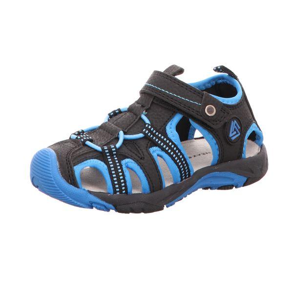 Sneakers Jungen-Sandalette Schwarz-Blau