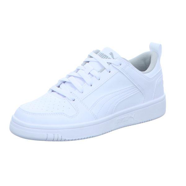 Puma Jungen-Schnürhalbschuh-Sneaker Rebound Layup Lo SL Jr Weiß