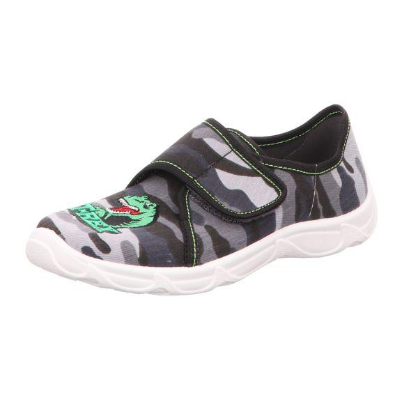 Sneakers Kinder-Hausschuh Dinosaurier T-Rex Grau