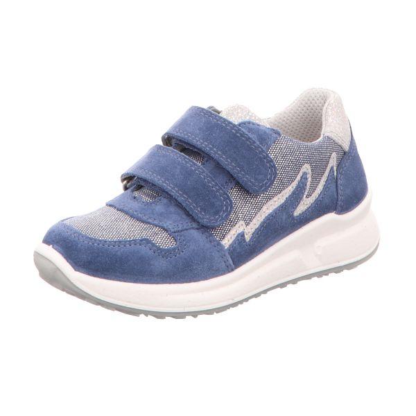 Superfit Mädchen-Slipper-Kletter MERIDA Blau
