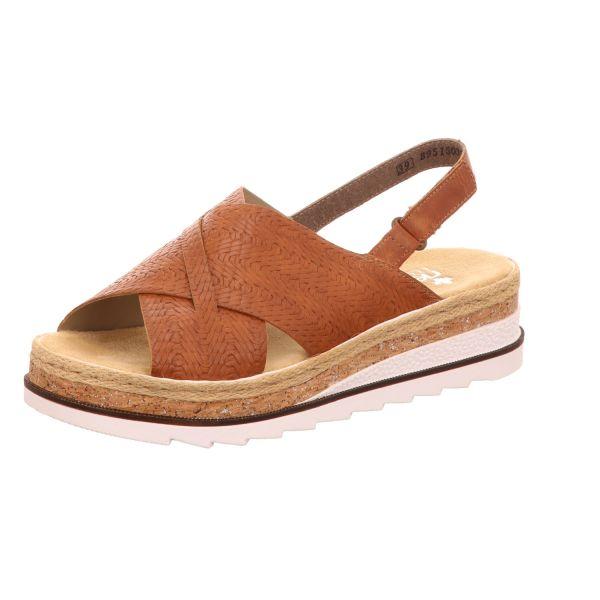 Rieker Damen-Sandalette mit Keilabsatz Braun