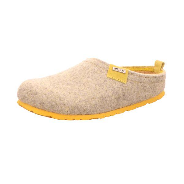 Rohde Damen-Pantoffel Beige-Gelb