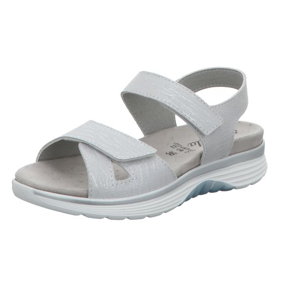 Scarbella Damen-Sandalette Grau-Weiß