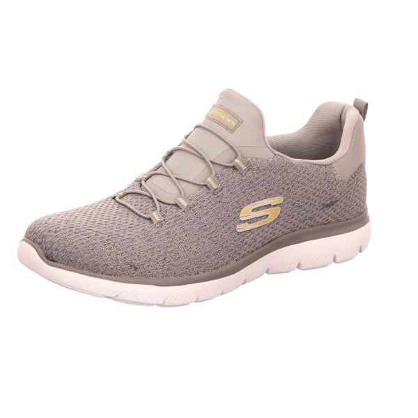 Skechers Damen-Sneaker-Slipper mit Memory Foam Summits Grau