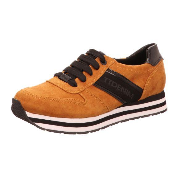 Tom Tailor Damen-Sneaker-Schnürhalbschuh Braun