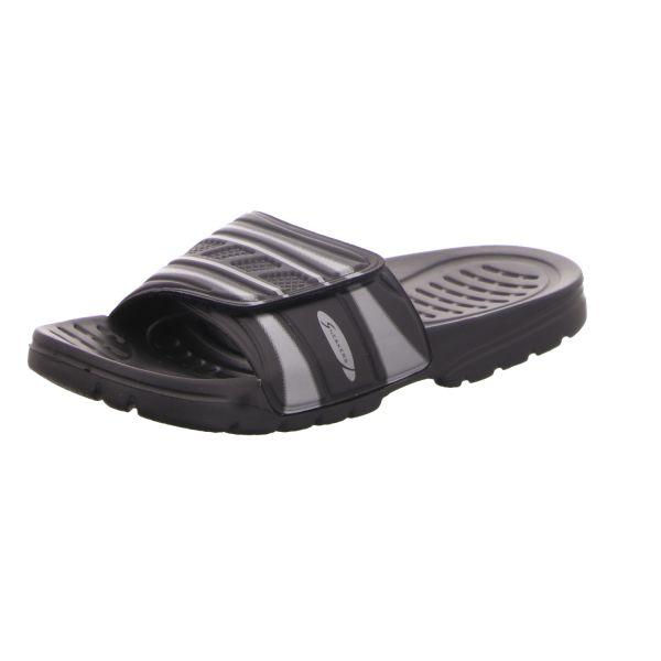 Sneakers Herren-Badepantolette Schwarz-Silber
