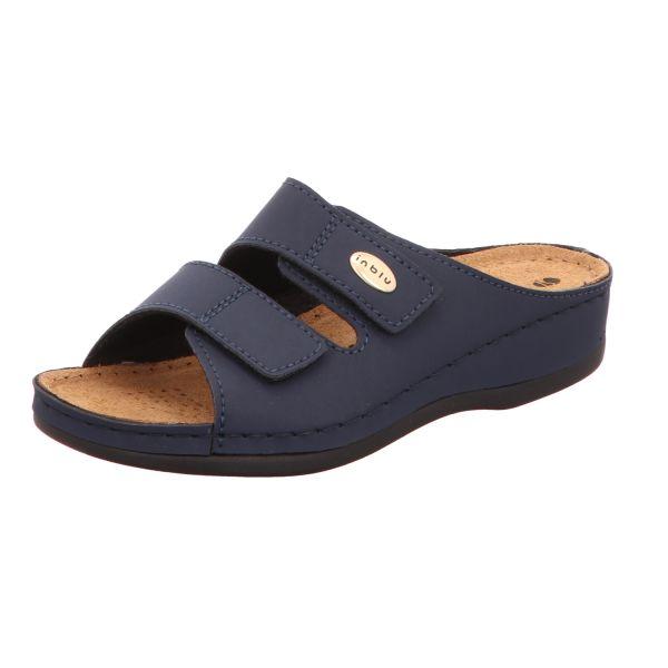 inblu Damen-Komfort-Pantolette Blau