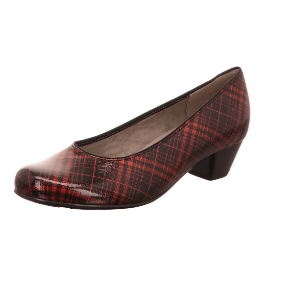 Jenny Damen-Pumps Catania Rot-Schwarz