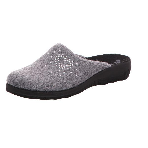 inblu Damen-Pantoffel Silber-Grau