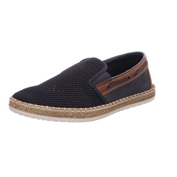 Rieker Herren-Slipper-Slip-On Blau