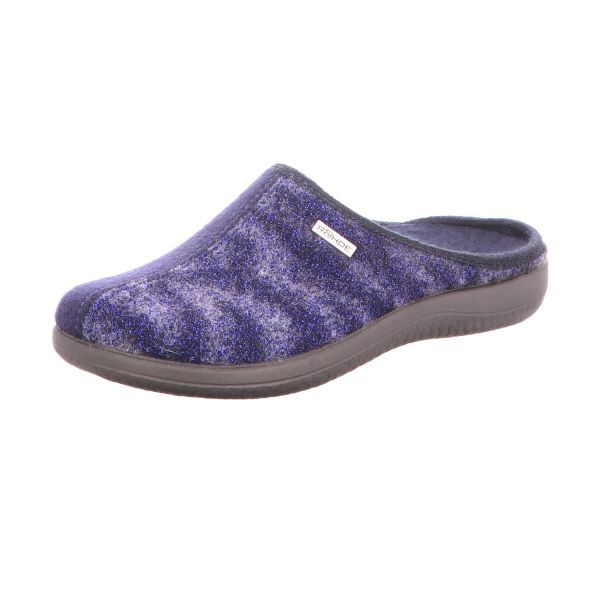 Rohde Damen-Pantoffel Blau-Lila