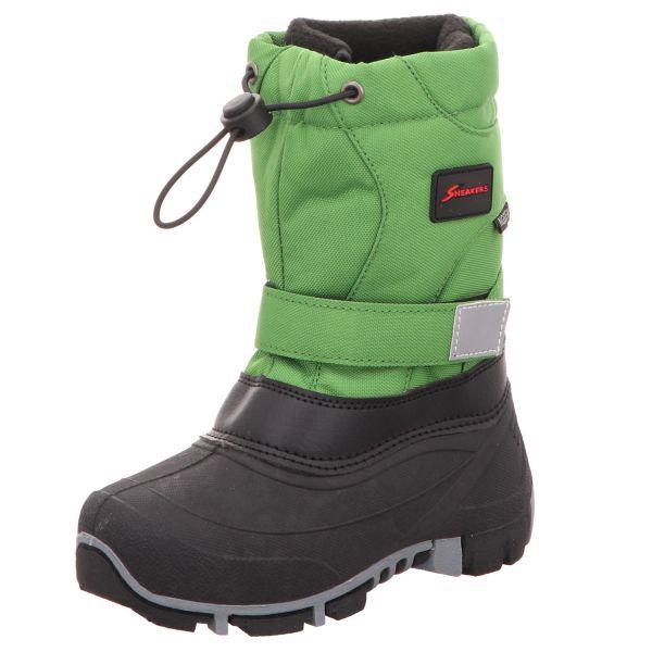Sneakers Jungen-Tex-Allwetterstiefel Warmfutter Grün-Schwarz