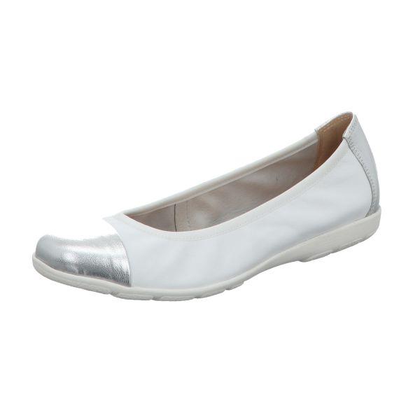 Scarbella Damen-Ballerina Silber-Weiß