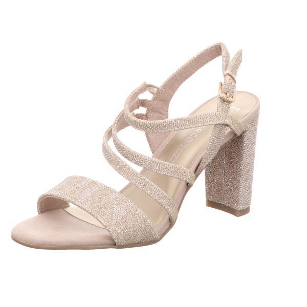 MARCO TOZZI Damen-Sandalette Beige-Metallic