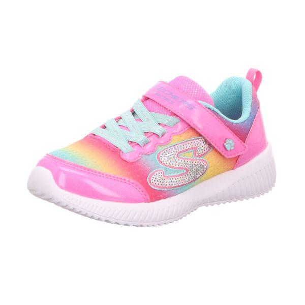 Skechers Mädchen-Slipper-Kletter-Sneaker Bobs Squad Spunky Steps Pink