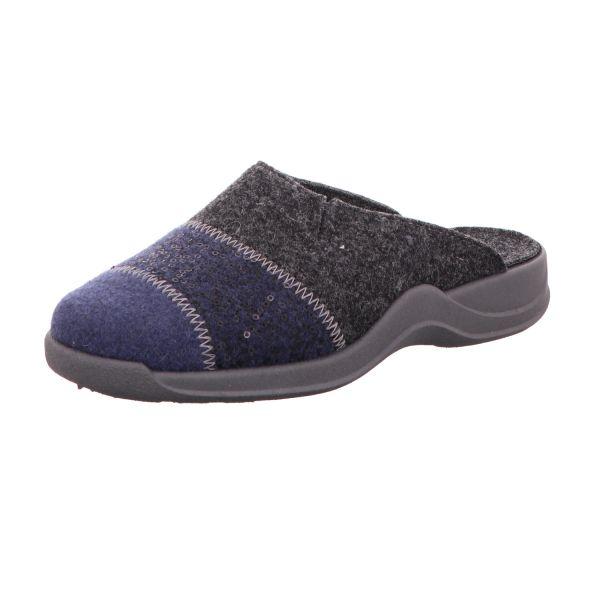Rohde Damen-Pantoffel Blau