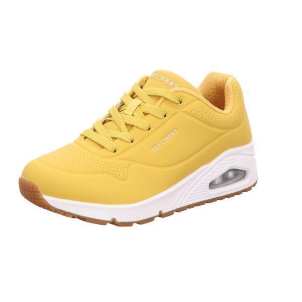 Skechers Damen-Sneaker-Schnürhalbschuh Uno Stand On Air Gelb